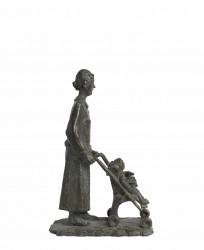 Mujer con carrito